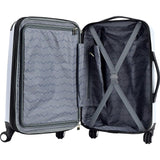 "famous luggage Chicago 20"" hardside exp. hardside carry-on luggage  - strapsandbrass.com"
