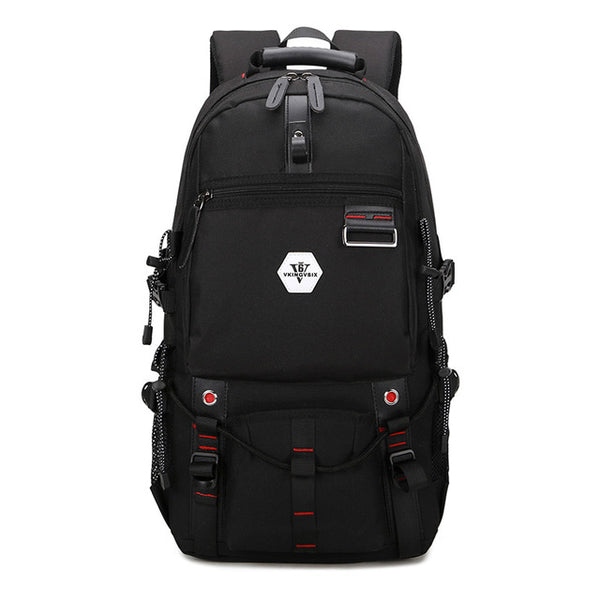 Backpack USB Charging & Water Resistant <br> Oxford Backpack Black - strapsandbrass.com