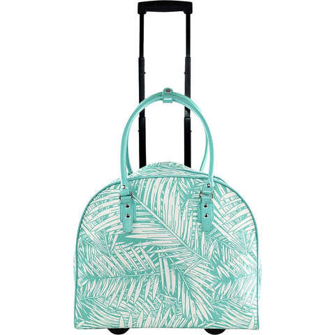 famous palm carry-on trolley 2 colors soft side carry-on Luggage Palm Turquoise - strapsandbrass.com