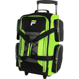 "famous 22"" lightweight carry on rolling duffel bag 4 colors Luggage Neon Lime - strapsandbrass.com"