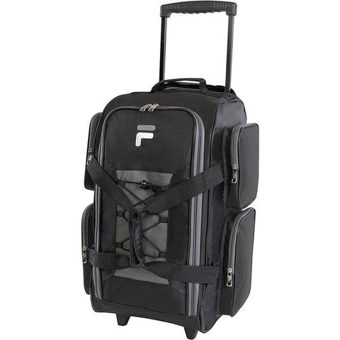 "famous 22"" lightweight carry on rolling duffel bag 4 colors Luggage Black - strapsandbrass.com"