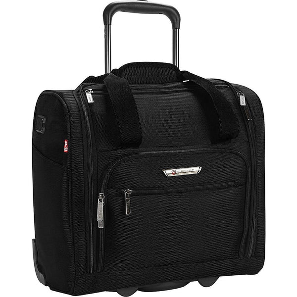 "famous luggage tprc 15"" carry-on under seat soft side carry-on Luggage Black - strapsandbrass.com"