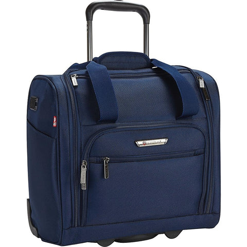 "famous luggage tprc 15"" carry-on under seat soft side carry-on Luggage Navy - strapsandbrass.com"