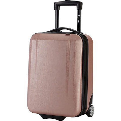 "famous carry-on 17"" hard side under seat 3 colors kids' luggage Luggage Rose Gold - strapsandbrass.com"