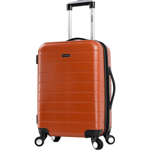 "famous luggage wrangler 3-n-1 20"" expandable hard side carry-on Luggage Burnt Orange - Exclusive - strapsandbrass.com"