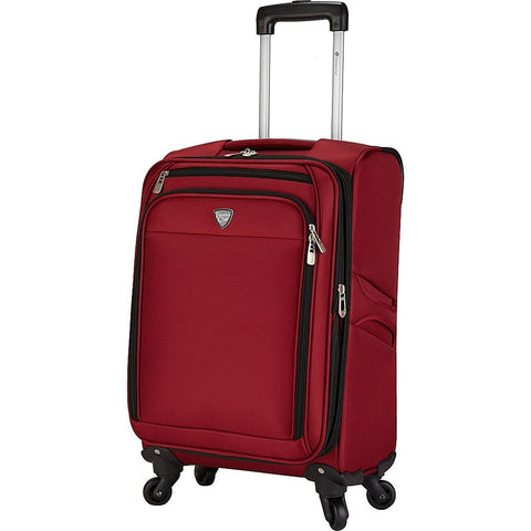 "famous luggage Monterey 18"" expandable carry-on soft side carry-on Luggage Red - strapsandbrass.com"