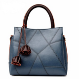 <bold>Tote / Crossbody Bag <br>Genuine-Leather Handbag Blue - strapsandbrass.com