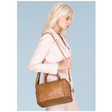 <bold>Top-Handle Bag  / Tote  Bag  <br>Vegan-Leather Handbag  - strapsandbrass.com