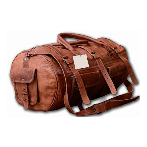 Duffel / Shoulder Bag <br> Genuine Leather Handbag  - strapsandbrass.com