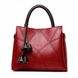 <bold>Tote / Crossbody Bag <br>Genuine-Leather Handbag Red - strapsandbrass.com