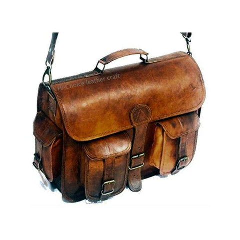 Briefcase & Laptop Bag <br> Genuine Leather Handbag  - strapsandbrass.com