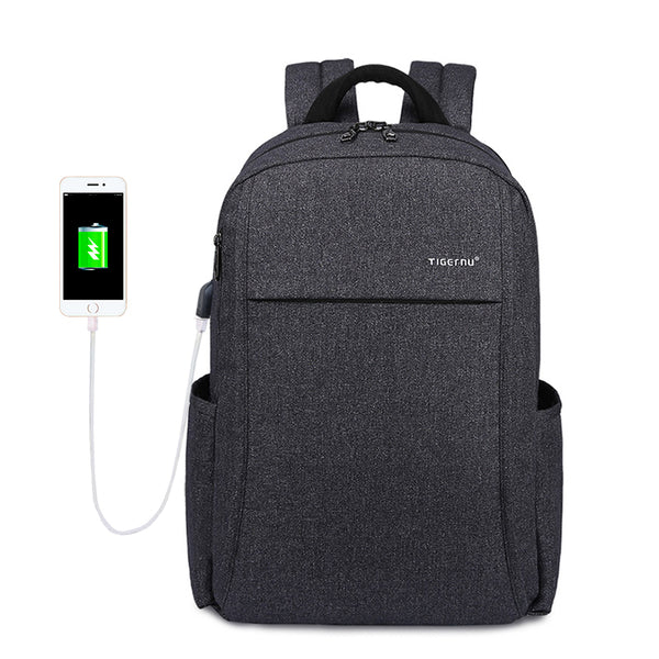 Backpack USB Charging & Anti-Theft <br> Oxford Backpack  - strapsandbrass.com