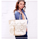 <bold>Tote / Shopping Bag  <br>Vegan-Leather Handbag  - strapsandbrass.com