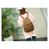 <bold>Casual Backpack  <br>Cotton Fashion Backpack  - strapsandbrass.com
