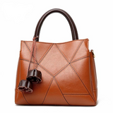 <bold>Tote / Crossbody Bag <br>Genuine-Leather Handbag Orange - strapsandbrass.com