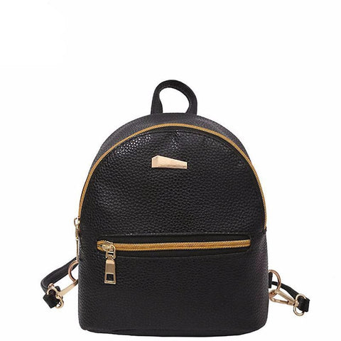 <bold>Youth Backpack <br>Vegan-Leather Fashion Backpack Black backpack - strapsandbrass.com