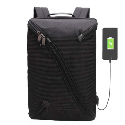Backpack USB Charging & Anti-Theft <br> Nylon Backpack  - strapsandbrass.com