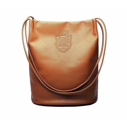 <bold>Bucket / Tote Bag<br>Vegan-Leather Handbag  - strapsandbrass.com