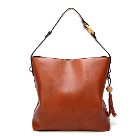<bold>Bucket / Shoulder Bag <br>Vegan-Leather Handbag  - strapsandbrass.com