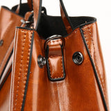 <bold>Tote / Shoulder Bag  <br>Vegan-Leather Handbag  - strapsandbrass.com