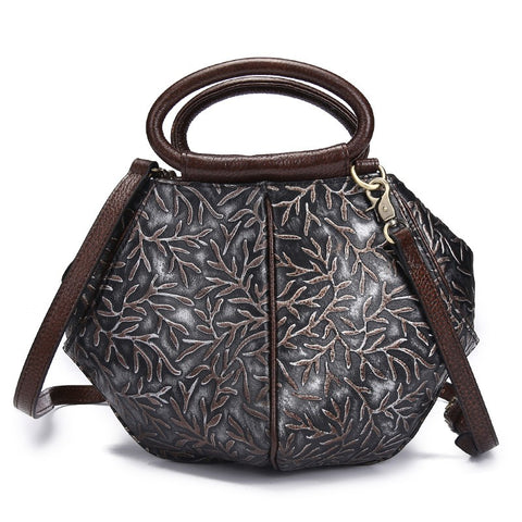 <bold>Shell / Crossbody Bag <br>Genuine-Leather Handbag  - strapsandbrass.com