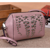 Shell / Crossbody Bag  <br>Genuine-Leather Handbag Pink - strapsandbrass.com