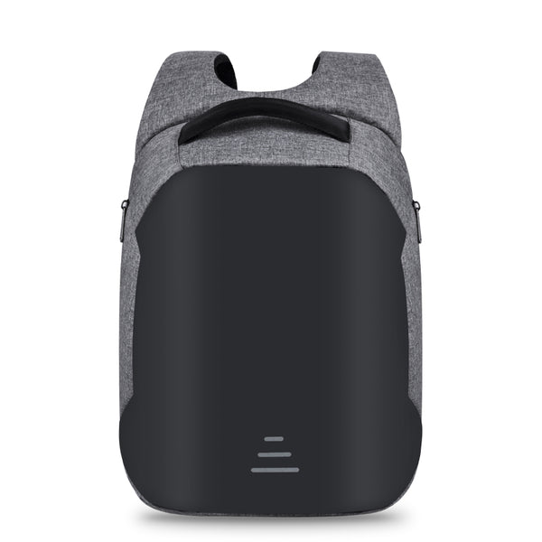 Backpack USB Charging & Waterproof<br> Canvas Backpack GRAY - strapsandbrass.com