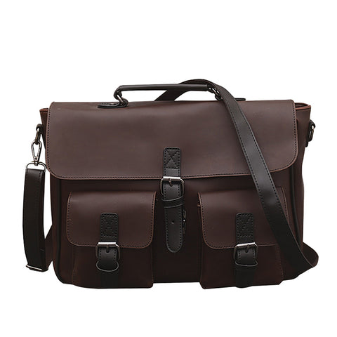 Briefcase | Messenger Bag <br> Genuine Leather Handbag  - strapsandbrass.com