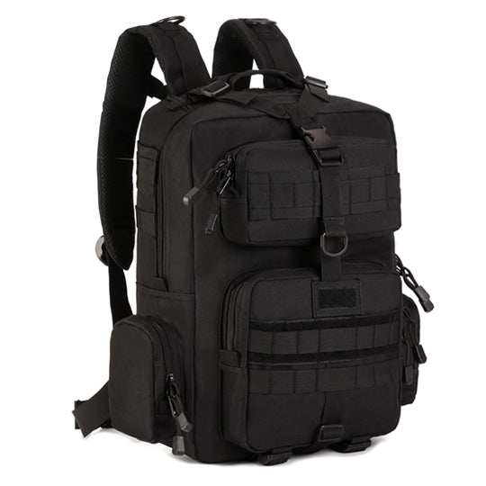 Backpack Military & Tactical <br> Nylon Backpack Black - strapsandbrass.com