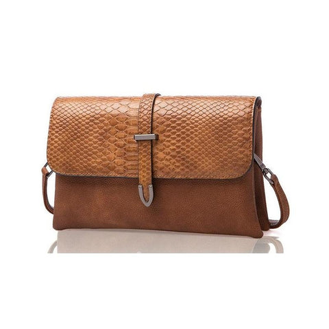 <bold>Messenger / Crossbody Bag <br>Vegan-Leather Handbag Brown - strapsandbrass.com
