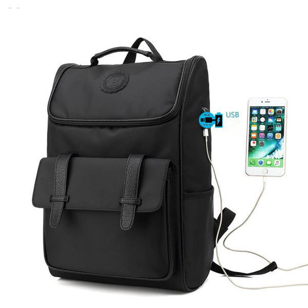 Backpack USB Charging<br> Nylon Backpack  - strapsandbrass.com