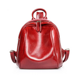 <bold>Fashion Backpack <br>Genuine-Leather Fashion Backpack Red - strapsandbrass.com
