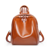 <bold>Fashion Backpack <br>Genuine-Leather Fashion Backpack Brown - strapsandbrass.com