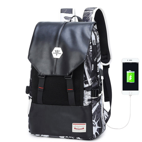 Copy of Backpack USB Charging <br> Oxford Backpack  - strapsandbrass.com