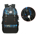 Backpack USB Charging<br> Oxford Backpack Blue - strapsandbrass.com