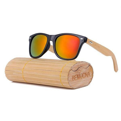 Handcrafted Sunglasses (Unisex) <br> Bamboo & Glass Sunglasses C3 - strapsandbrass.com