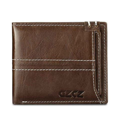 Wallet (RFID Blocking) <br> Genuine Leather Wallet Coffee - strapsandbrass.com