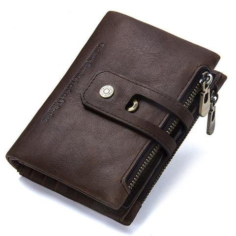 Wallet (RFID Blocking) <br> Genuine Leather Wallet coffee / China - strapsandbrass.com