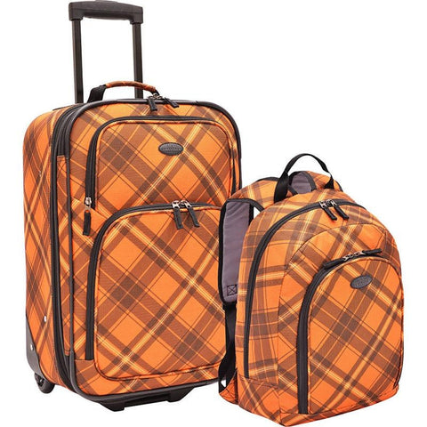 famous 2-pc carry-on rolling upright and luggage set Luggage  - strapsandbrass.com