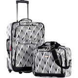 famous lets travel 2 piece carry on luggage set - Luggage Spiral - strapsandbrass.com