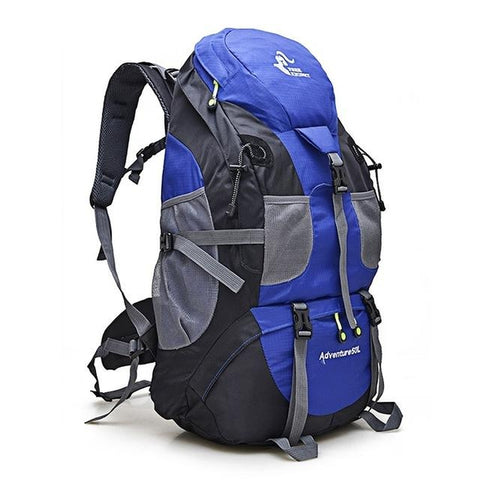 Hiking / Climbing Backpack <br> Nylon Backpack Blue - strapsandbrass.com