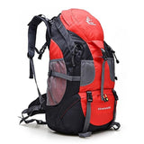 Hiking / Climbing Backpack <br> Nylon Backpack Red - strapsandbrass.com