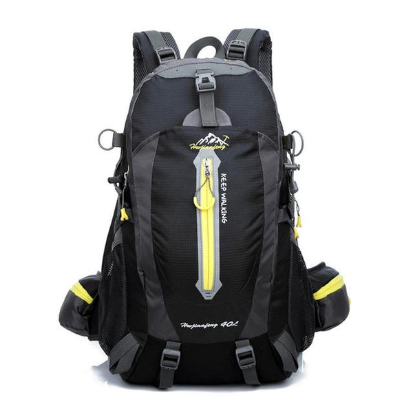 Hiking / Climbing Backpack <br> Nylon Backpack Black Color - strapsandbrass.com