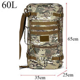 Backpack Military or Tactical <br> Nylon Backpack 60L CP camouflage - strapsandbrass.com