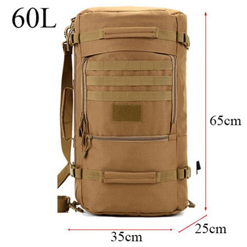 Backpack Military or Tactical <br> Nylon Backpack 60L  Khaki - strapsandbrass.com