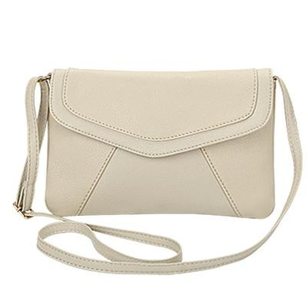 <bold>Crossbody / Shoulder Bag <br>Vegan-Leather Handbag Beige - strapsandbrass.com