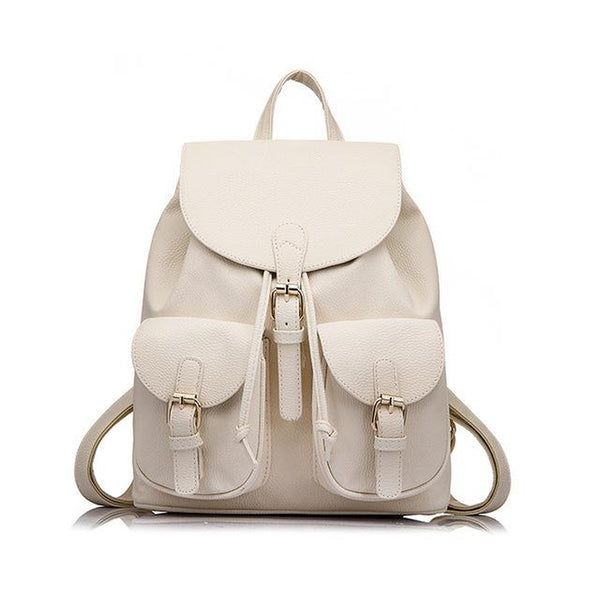 <bold>Fashion Backpack <br>Vegan-Leather Fashion Backpack Beige - strapsandbrass.com