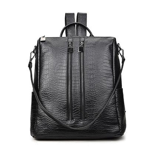<bold>Fashion Backpack  <br>Vegan-Leather Fashion Backpack Black1 - strapsandbrass.com