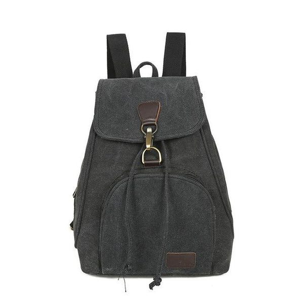 <bold>Casual Backpack  <br>Cotton Fashion Backpack Black - strapsandbrass.com