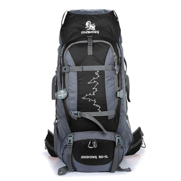 Backpack Hiking & Climbing<br> Nylon Backpack Black - strapsandbrass.com